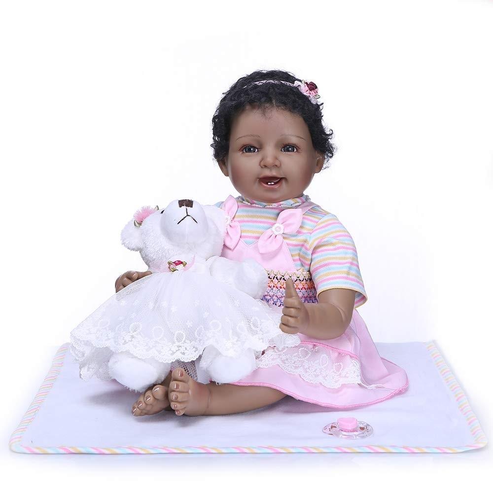 22 inches Cute Black Reborn Babies, African American ...