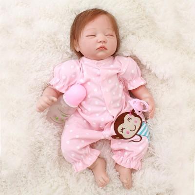20 Inches Silicone Reborn Girls Dolls Realistic Newborn Sleeping Baby