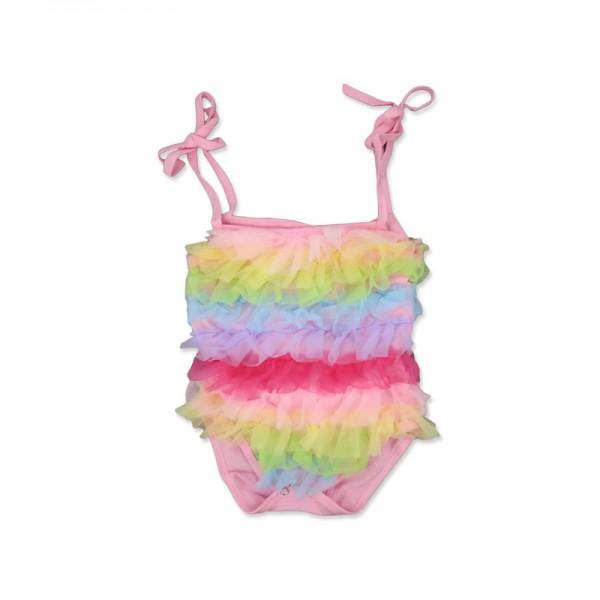 One Piece Rainbow Suspenders Bodysuit For 19 - 22 inches Reborn Girls