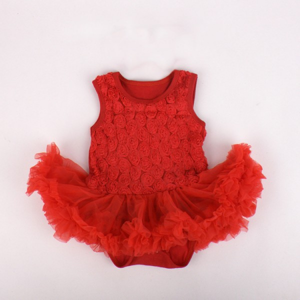 One Piece Cute Rose Bodysuit And Tutu For 19 - 22 inches Reborn Girls