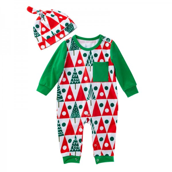 2-Piece Xmas Jammies And Hat Set For 19 - 22 inches Reborn Boys