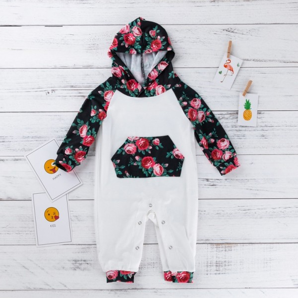 One Piece Rose Hooded Jammies For 19 - 22 inches Reborn Babies