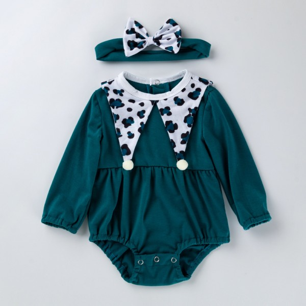 2-Piece Long Sleeve Bodysuit And Headband Set For 19 - 22 inches Reborn Girls