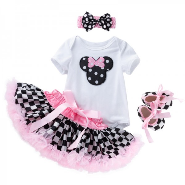 4-Piece Short sleeve Bodysuit And Tutu Set For 19 - 22 inches Reborn Girls