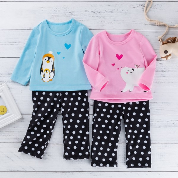 4-Piece Cute Long Sleeve Tops And Pants Set For 19 - 22 inches Reborn Twins