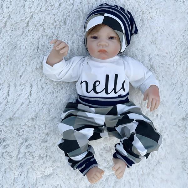 Lifelike Newborn Babies Cute Reborn Baby Boy Doll 20Inche
