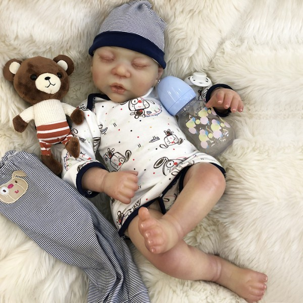 Sleeping Reborn Baby Doll Boy Look Realistic Newborn Babies 20inche