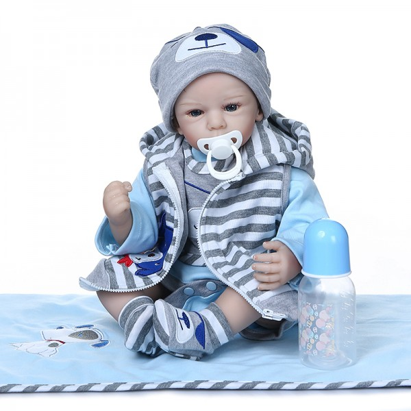 Newborn Baby Boy Doll Adorable Lifelike Doll Realistic Baby 20inches