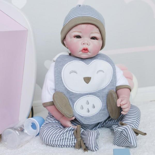 100% Handmade Boy Doll Lifelike Realistic Newborn Baby 20Inche