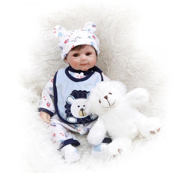 Cute Newborn Babies Silicone Soft Vinyl Reborn Baby Boy Doll 20 Inche
