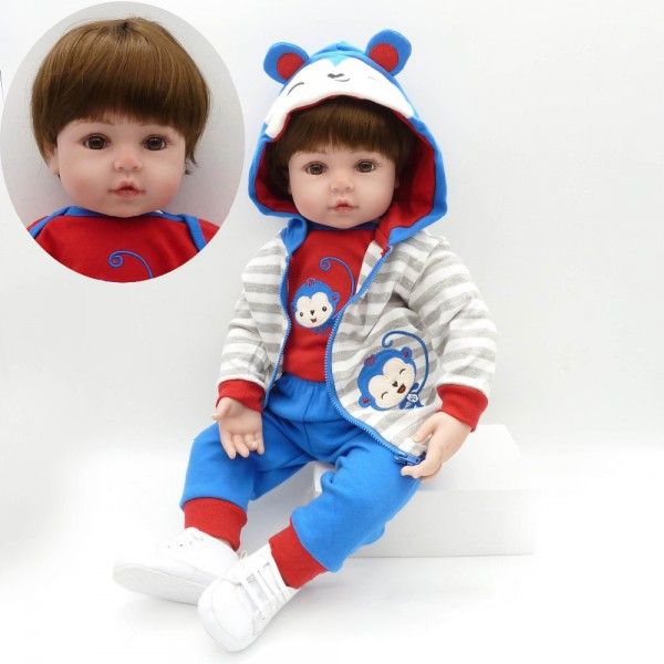 Real Looking Baby Dolls Boy Reborn Toddler Doll 18.5 inches