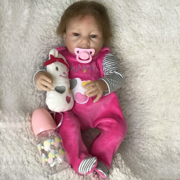 High Quality Reborn Baby Dolls Open Eyes Newborn Baby Girl 18 Inches