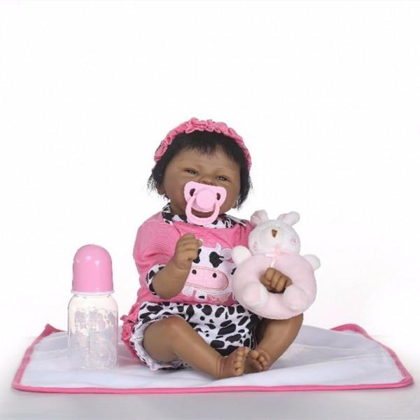 Best African American Reborn Girl Mini Black Baby Doll 16inche
