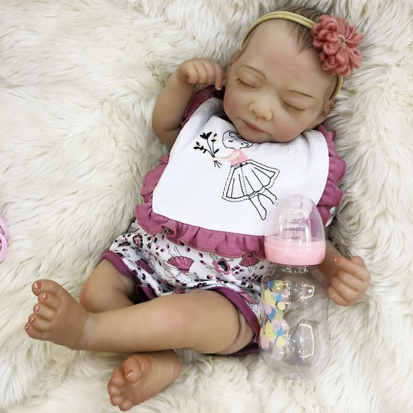 Life Like Realistic Baby Doll Sleeping Newborn Baby Girl 18Inches