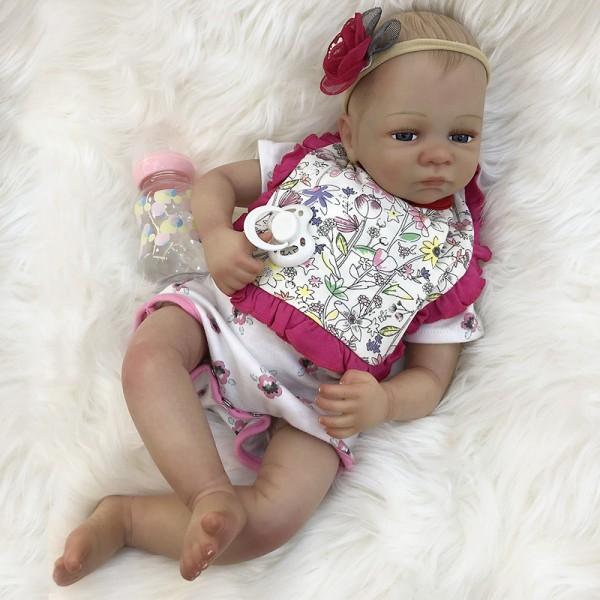 Cute Reborn Baby Eyes Open Newborn Realistic Baby Girl Doll 18inche