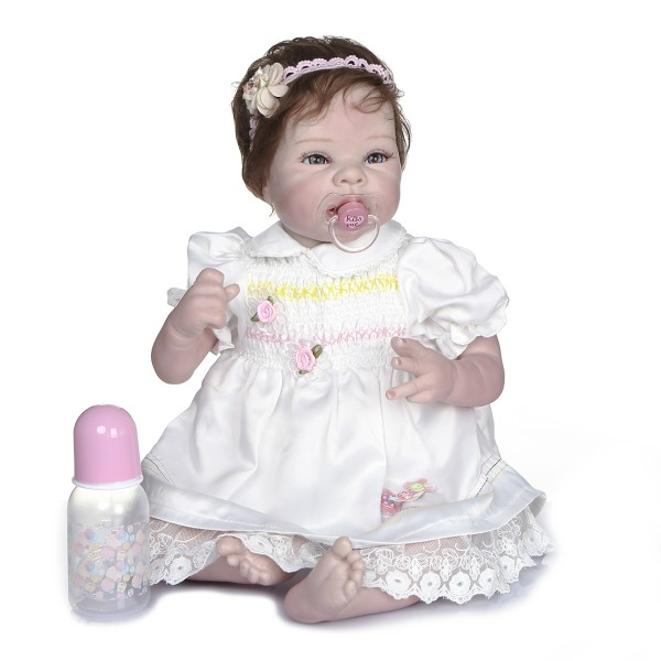 Baby Doll Toddlers That Look Real 22inches Handmade Lifelike Baby Girl Doll Silicone