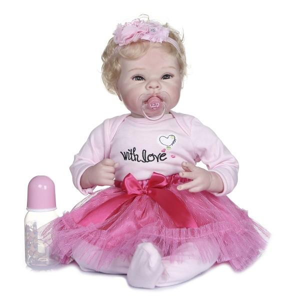Flexible Limbs Reborn Baby Doll 100% Handmade Lifelike Babies Dolls 22inche