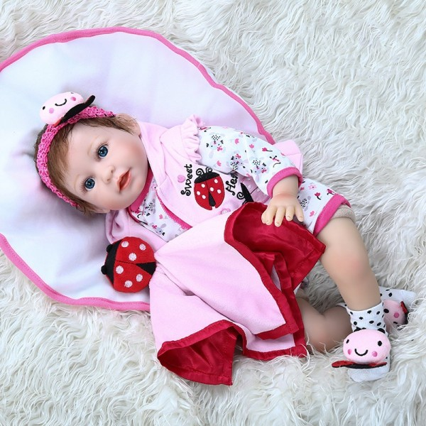 Adorable Realistic Newborn Baby Silicone Soft Lifelike Reborn Baby 22Inche