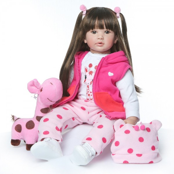 Newborn Lifelike Reborn Dolls Girl Soft Silicone Vinyl Doll 24inch