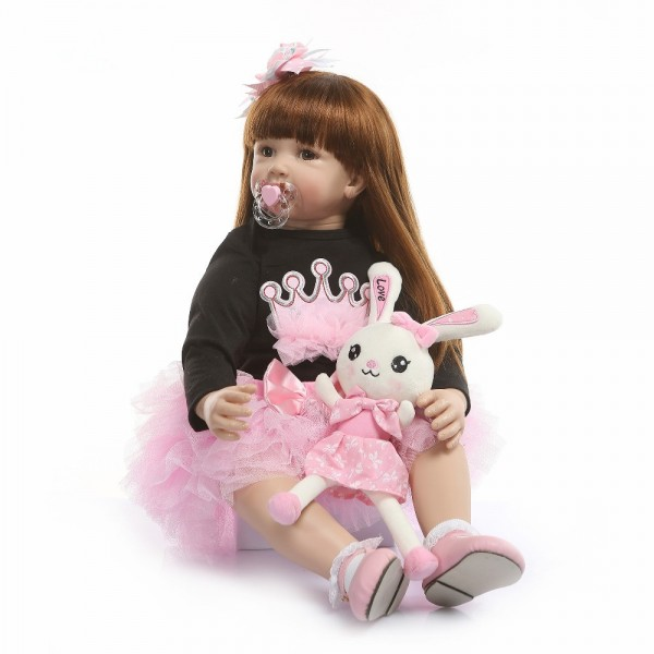 Reborn Baby Doll Like Real Reborn Toddler Babies Dolls Girls 24inches