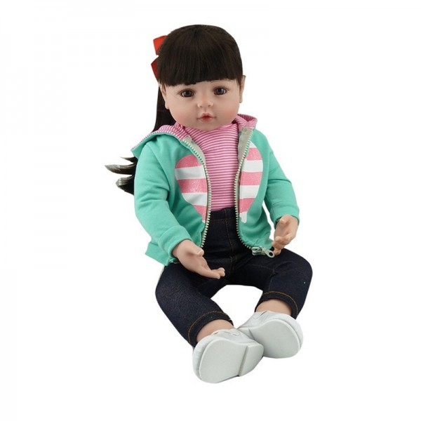 Lifelike Newborn Baby Doll Princess Silicone Dolls Girl 18.5 inches