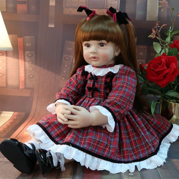 Adorable Lifelike Baby Girl Doll Big Size Reborn Toddler Princess 24inche
