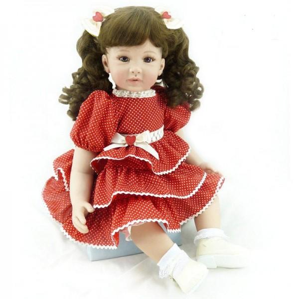 Lovely Lifelike Reborn Toddler Hand Made Baby Girl Doll 24inche