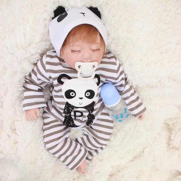 Reborn Baby Dolls Silicone Vinyl Realistic Lifelike Sleeping Baby Boy Doll 20inch