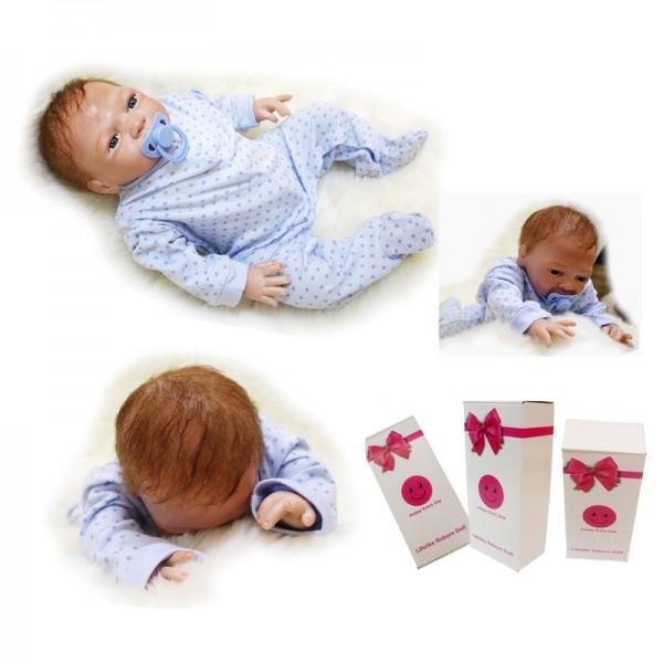 Realistic Reborn Baby Dolls Silicone Lifelike Baby Boy Doll 18inch