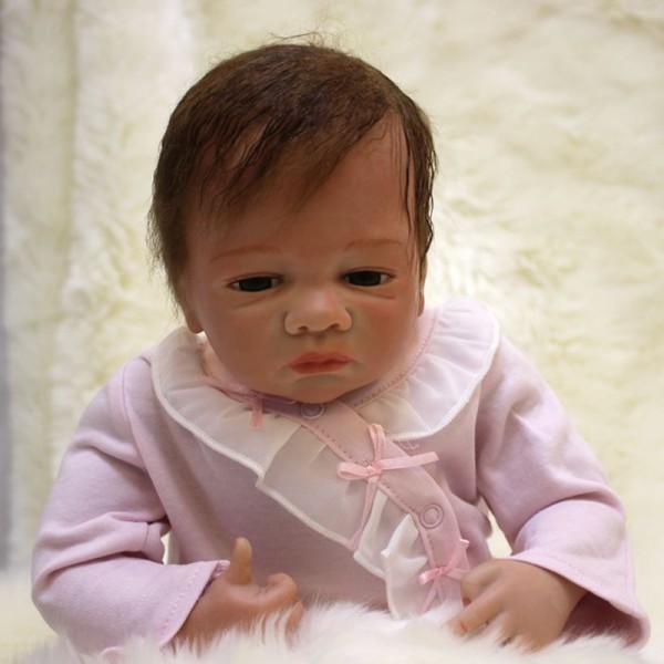 Life Like Reborn Baby Dolls Silicone Realistic Newborn Baby Girl 18inch