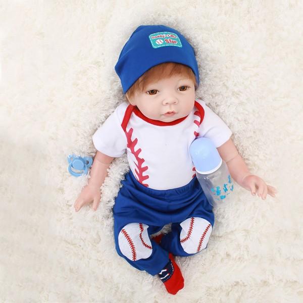 Reborn Baby Dolls Life Like Realistic Newborn Silicone Baby Boy 22inch