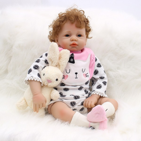 Life Like Reborn Baby Dolls Newborn Silicone Real Baby Girl Doll 21inch