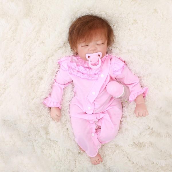Reborn Sleeping Baby Dolls Life Like Realistic Newborn Silicone Baby Girl 22inch