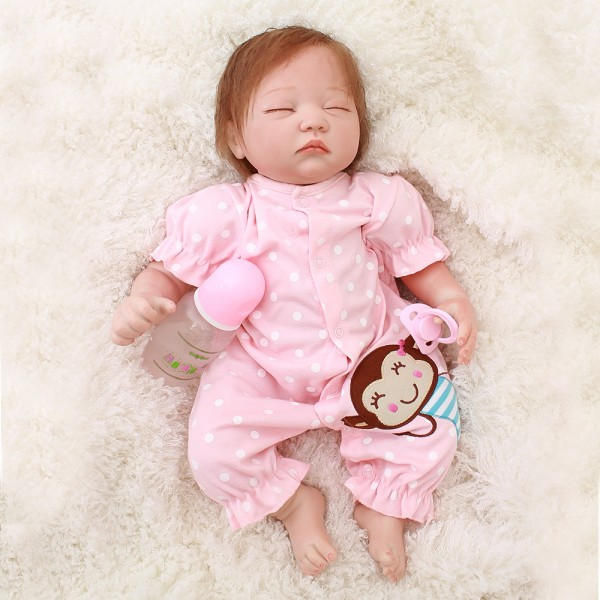 Reborn Life Like Sleeping Baby Dolls Realistic Newborn Silicone Baby Girl 20inch