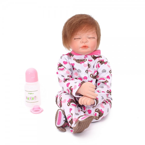 Reborn Baby Dolls Lifelike Realistic Silicone Sleeping Girl Doll 22inch