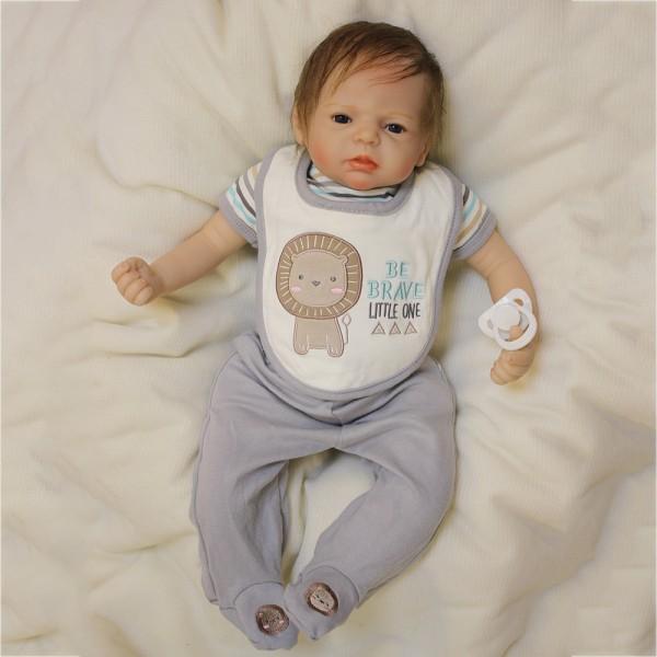 Lifelike Baby Doll Handmade Silicone Newborn Reborn Boy Doll 22inch