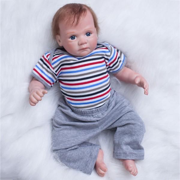 Lifelike Reborn Baby Dolls Newborn Silicone Realistic Baby Boy Doll 20inch