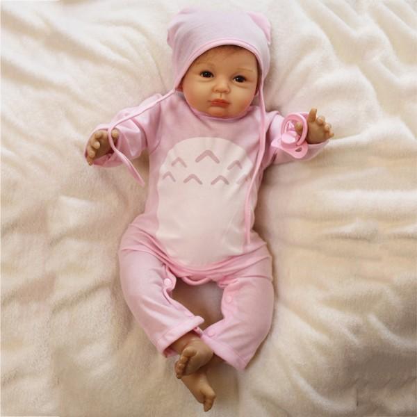 Reborn Baby Dolls Lifelike Realistic Silicone Baby Doll Girl 22inch