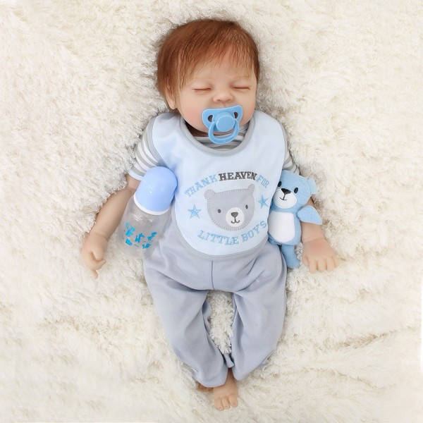 Silicone Reborn Baby Dolls Lifelike Look Real Newborn Cute Baby Boy 20inch