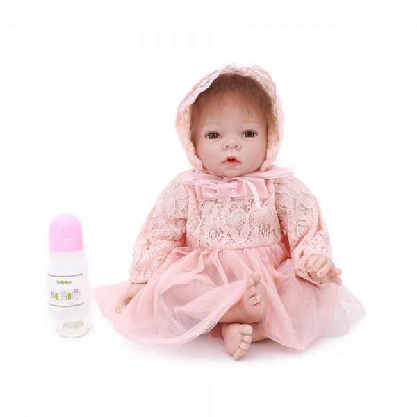 Little Princess Reborn Baby Doll Silicone Lifelike Realistic Newborn Baby Girl 22inch