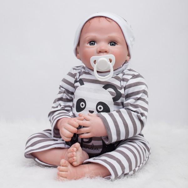 Silicone Vinyl Reborn Baby Dolls Realistic Lifelike Baby Boy Doll 20inch