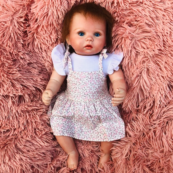 Reborn Baby Doll Silicone PP Cotton Life Like Baby Boy Girl Doll 15inch