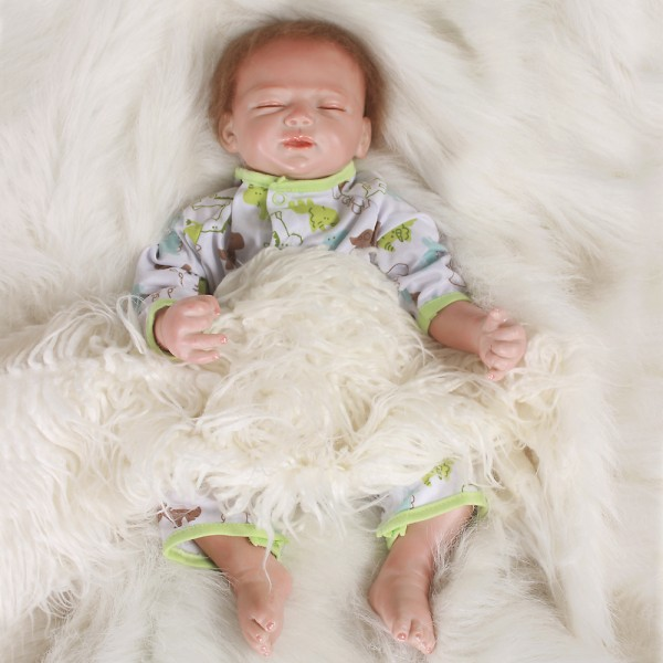 Life Like Reborn Sleeping Baby Doll Boy Silicone PP Cotton Baby Doll 20inch