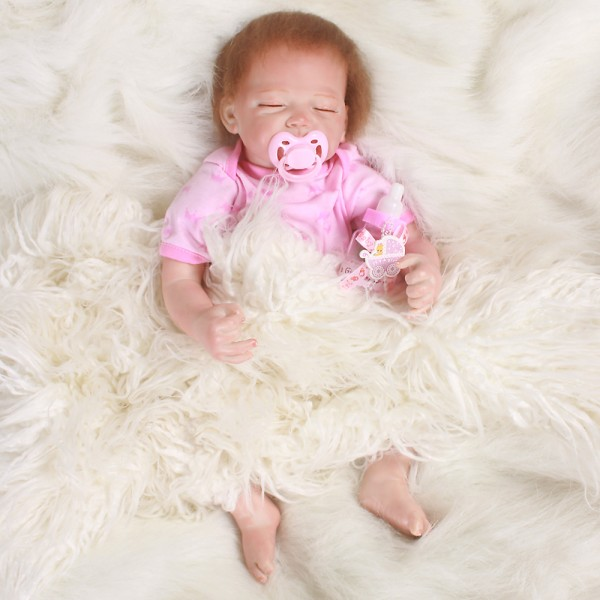 Reborn Sleeping Baby Doll Girl Life Like Silicone PP Cotton Baby Doll 20inch
