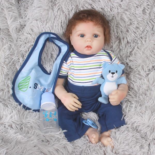 Reborn Baby Doll Boy Lifelike Realistic Silicone Baby Doll 20inch