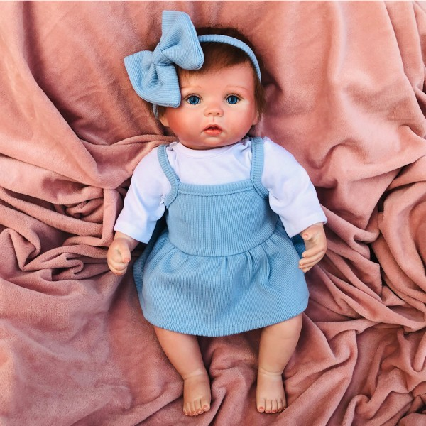 Silicone Reborn Baby Doll Girl Lifelike PP Cotton Body Baby Doll 15inch