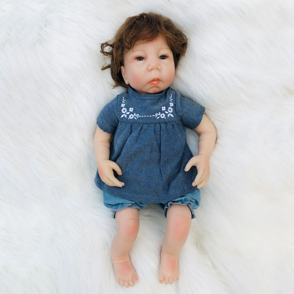 Lifelike Realistic Reborn Boy Doll Soft Silicone Body 18inch