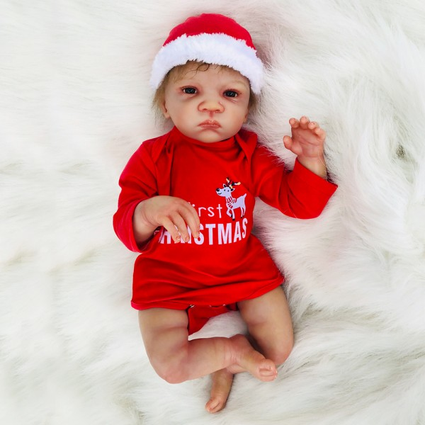 Christmas Reborn Baby Doll Lifelike Silicone Girl Doll 20inch