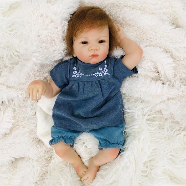 Reborn Baby Girl Doll Lifelike Silicone Baby Doll 20inch