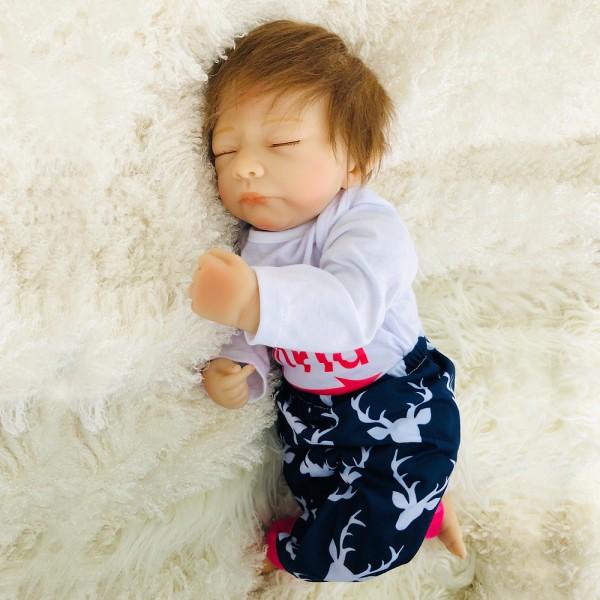 Sleeping Baby Doll Reborn Life Like Realistic Silicone Baby Boy 18inch